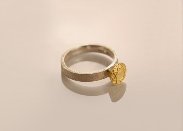 Gelbgoldener Brillant Ring