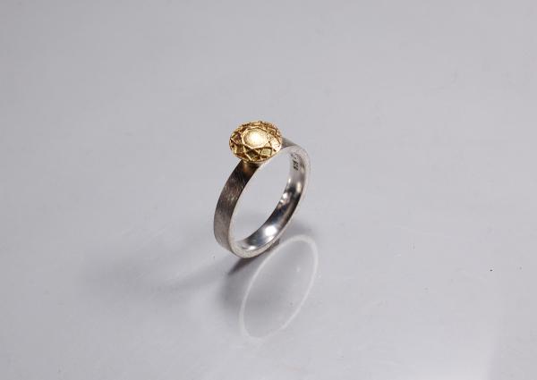 Ring mit Materialkombination Silber und Roségold