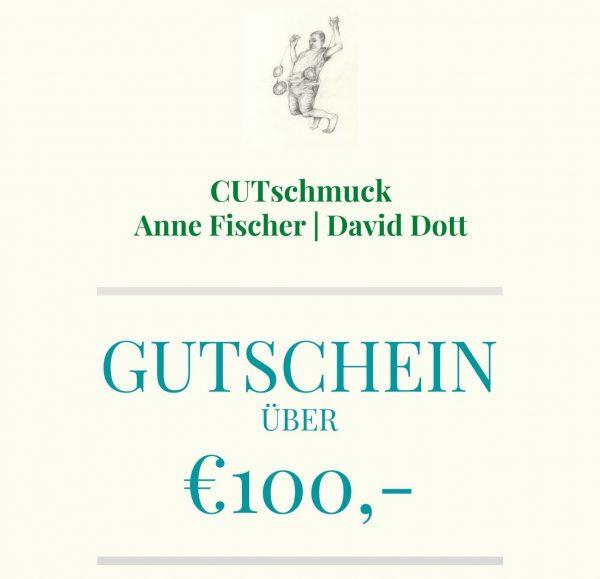 Kunst Gutschein über 100 €, von Cutschmuck, Anne Fischer und David Dott