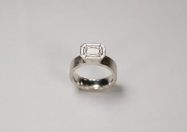 Ring mit ecken und Kanten und einer eigenwilligen interpretation des Edelsteins