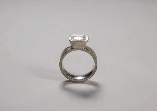 Ring eckig aus silber